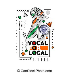 """VOCAL FOR LOCAL"""" campaign of India - Independence Day Poster..."""