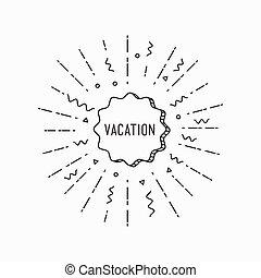 Vocation. Inspirational vector summer illustration