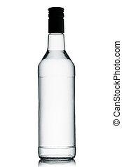Vodka. - A bottle of vodka on a white background.