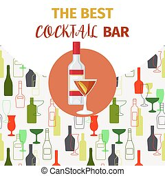 Vodka and red cocktail bar banner