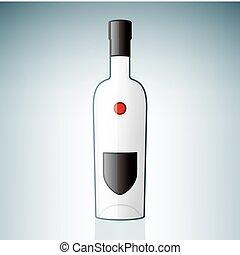 Vodka Bottle (part of the Alcohol Glass Icons Set)