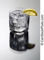 vodka, cocktail, club, gris, /, tonique, fond, soude, gin, ...