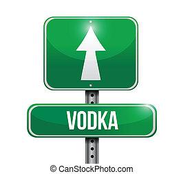 vodka, diseño, ilustración