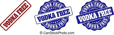 VODKA FREE Grunge Stamp Seals
