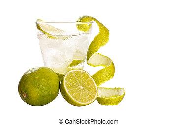 vodka, ghiaccio, calce