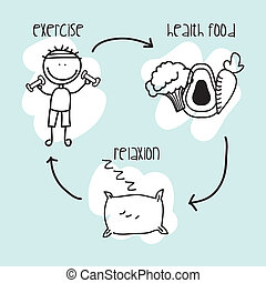voeding, infographics