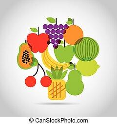 voedings, voedingsmiddelen, ontwerp
