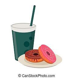 voedingsmiddelen, amerikaans ontbijt