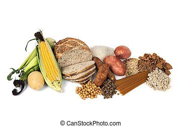 voedingsmiddelen, bronnen, van, complexe carbohydrates