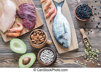 voedingsmiddelen, bronnen, van, zink