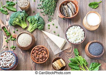 voedingsmiddelen, calcium, rijk