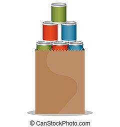 voedingsmiddelen, canned, besturen
