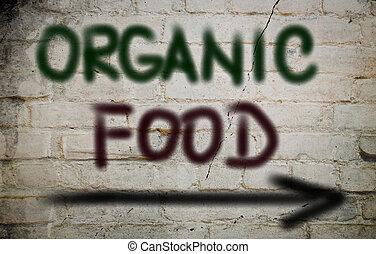 voedingsmiddelen, concept, organisch