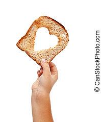 voedingsmiddelen, delen, liefde
