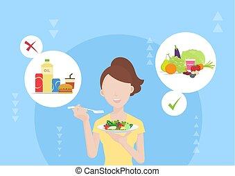voedingsmiddelen, dieet, keuzes