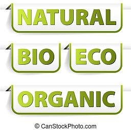 voedingsmiddelen, groene, bookmarks, organisch