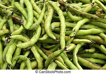 voedingsmiddelen, groentes, lima bonen, textuur