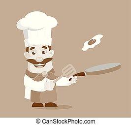 voedingsmiddelen, het koken, vector, illustratie