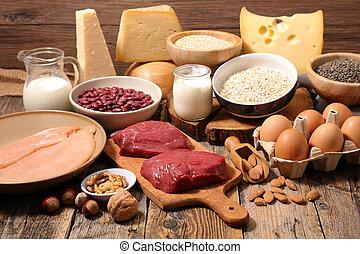 voedingsmiddelen, hoog in eiwit, bronnen