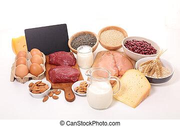 voedingsmiddelen, hoog in eiwit