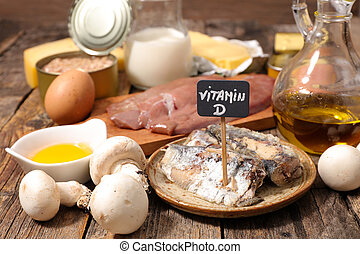 voedingsmiddelen, hoog, vitamine d