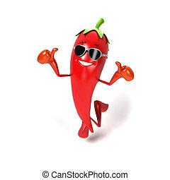 voedingsmiddelen, karakter, chili, -
