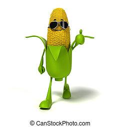 voedingsmiddelen, karakter, -, maïs cob