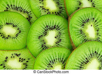 voedingsmiddelen, kiwi fruit, dichtbegroeid boven