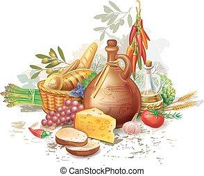 voedingsmiddelen, land leven, nog