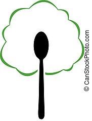 voedingsmiddelen, logo, organisch