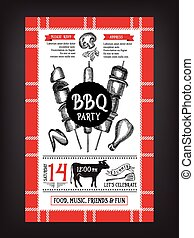 Eps vectors van voedingsmiddelen menu flyer invitation mal barbecue csp29561891 - Barbecue ontwerp ...