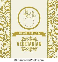 voedingsmiddelen, menu, vegetariër, ontwerp