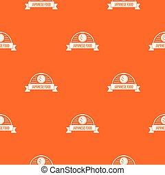 voedingsmiddelen, model, japanner, traditionele , vector, sinaasappel