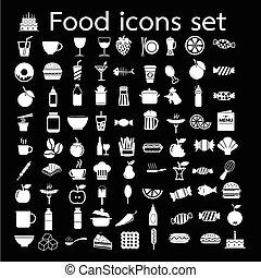 voedingsmiddelen, ontwerp, illustratie, pictogram