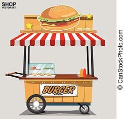 voedingsmiddelen, op, vasten, vector, illustratie, achtergrond, beige