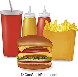 voedingsmiddelen, products., groep, vasten