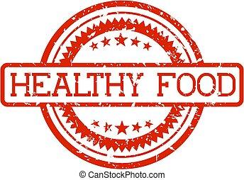 voedingsmiddelen, rubberstempel, gezonde