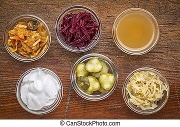 voedingsmiddelen, sampler, vergiste