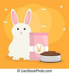 voedingsmiddelen, schattig, weinig; niet zo(veel), konijn