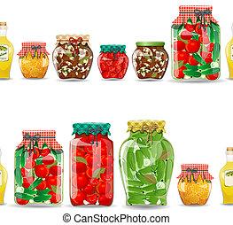 voedingsmiddelen, seamless, konfijten, grens