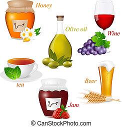 voedingsmiddelen, set