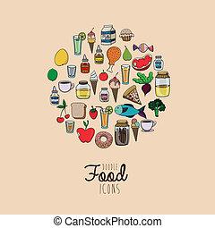 voedingsmiddelen, tekening