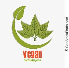 voedingsmiddelen, vegan, design.