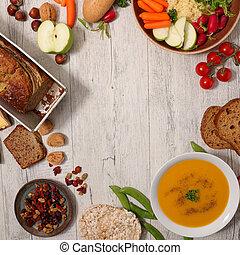 voedingsmiddelen, vegan, geassorteerd