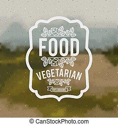 voedingsmiddelen, vegetariër, ontwerp