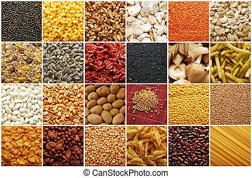 voedingsmiddelen, verzameling, ingredienten