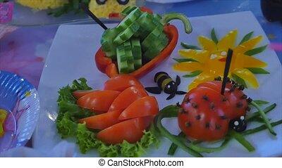 voedingsmiddelen, vieren, geitjes, plezier