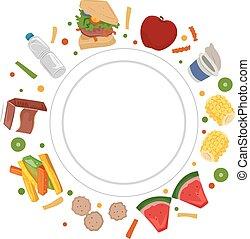 voedingsmiddelen, voedingsleer, schaaltje