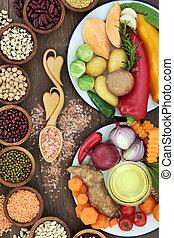 voedingsmiddelen, voor, gezondheid en goed is