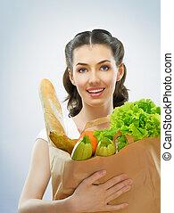 voedingsmiddelen, zak